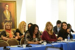 154 Período Ordinario de Sesiones, 16 de marzo de 2015   Petitioners: Yren Rotela (REDLACTRANS); Marcela Romero (REDLACTRANS); Gabriela Redondo (REDLACTRANS)    Photo credit: Daniel Cima
