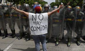 Venezuelan Food Protest